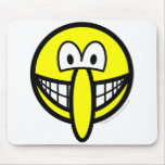Big nosed smile   mousepad