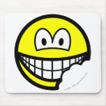 Bitten smile   mousepad