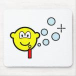 Bubble blowing buddy icon   mousepad