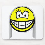 Gray haired smile   mousepad