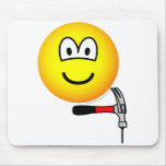 Hammer and nail emoticon   mousepad