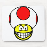 Toad smile video game  mousepad