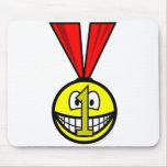 Medal smile   mousepad