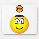 Piggy bank emoticon   mousepad