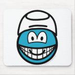 Smurf smile   mousepad