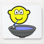 Water fountain buddy icon drinking  mousepad