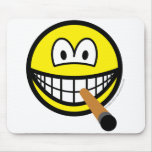 Cigar smile   mousepad