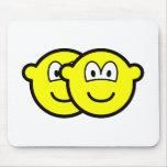 Gemini buddy icon Zodiac sign  mousepad