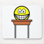 School desk smile   mousepad