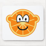 Orange buddy icon   mousepad