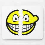 Broken smile   mousepad