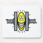 Stressed smile Under pressure  mousepad