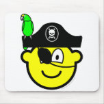 Pirate with parrot buddy icon   mousepad