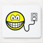 Plugged in smile   mousepad