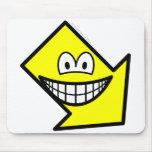 Down right smile arrow  mousepad