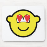 Buddy icon in love   mousepad