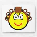 Curling buddy icon Permed  mousepad