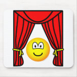Theater emoticon stage curtains open  mousepad