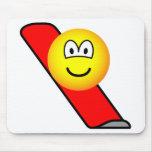Snow boarding emoticon   mousepad