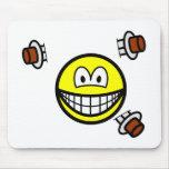 Knife thrower smile   mousepad