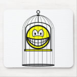 Caged smile   mousepad