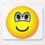 Star eyed emoticon   mousepad