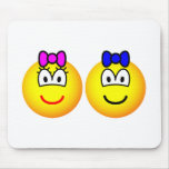 Twins emoticon   mousepad