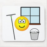 Window cleaner emoticon   mousepad