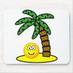 Desert island emoticon   mousepad
