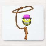 Cowgirl smile lasso  mousepad