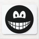 Black smile   mousepad