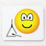 Triangle emoticon   mousepad