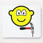 Hammer and nail buddy icon   mousepad