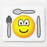 Cutlery emoticon   mousepad