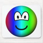 Rainbow emoticon Colours  mousepad