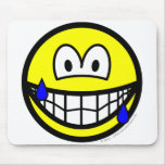 Nervous smile Sweating  mousepad