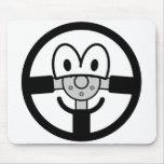 Steering wheel emoticon   mousepad