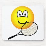 Tennis emoticon   mousepad