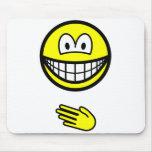 Paper smile rock - paper - scissors  mousepad