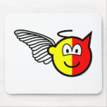 Angel or devil buddy icon   mousepad