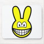 Bunny smile   mousepad