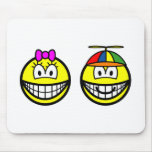 Brother and sister smile   mousepad