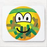 Camouflage emoticon   mousepad