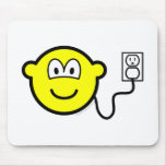 Plugged in buddy icon   mousepad