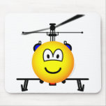 Helicopter emoticon   mousepad