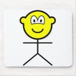Stickfigure buddy icon man  mousepad
