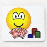 Poker emoticon   mousepad