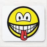 Tongue stud smile   mousepad