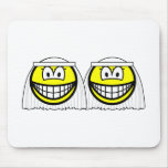 Gay Marriage smilies Female  mousepad