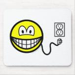 Unplugged smile Sad  mousepad